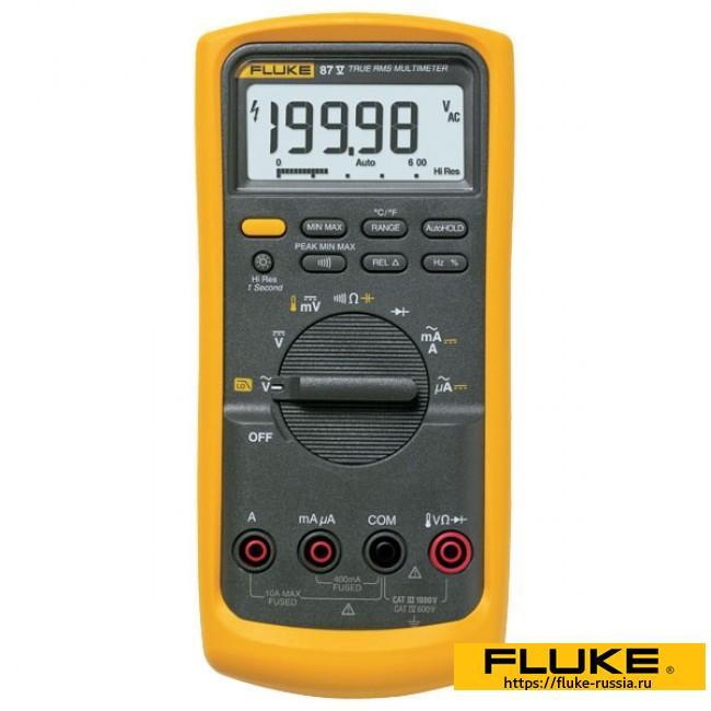 Мультиметр Fluke 87v купить в Москве — Портативные мультиметры от официального дистрибьютера Флюк в России.